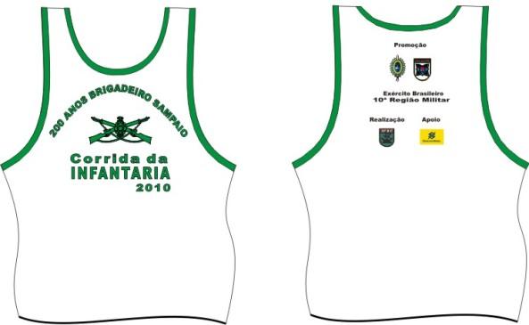 Modelo das Medalhas e Camisetas da Corrida da Infantaria 2010 ...